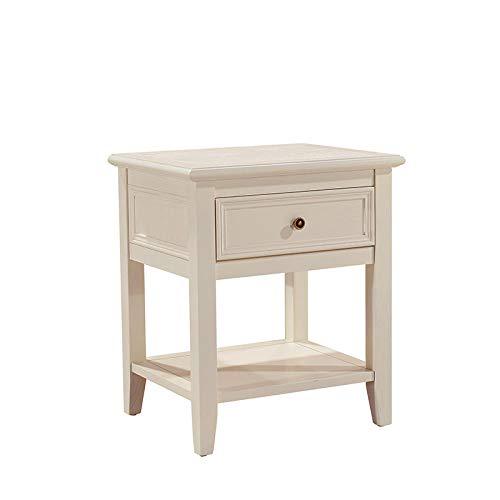 YTSFT Solid houten salontafel bank kast opbergtafel met lade school studie kantoor hotel restaurant slaapkamer woonkamer Kleur: wit