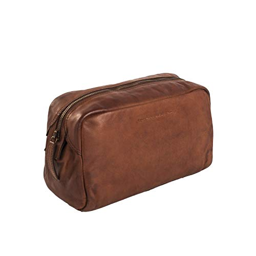 The Chesterfield Brand Brisbane Toilet Bag Cognac
