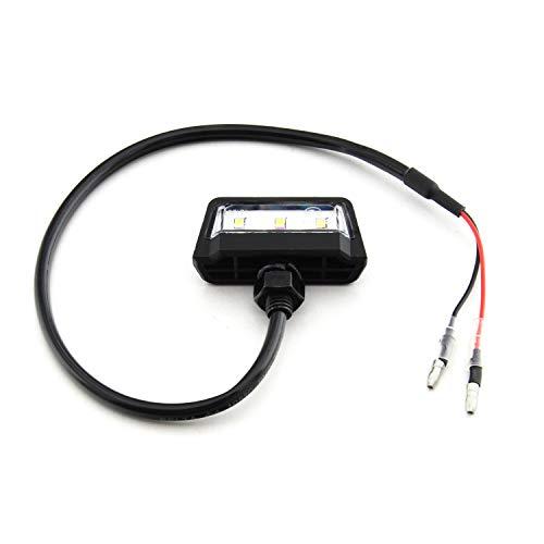 E Geprüft universal LED Kennzeichen Beleuchtung Motorrad - Quad Roller ATV Wasserfest IP67 Mini Schwarz Super Optik