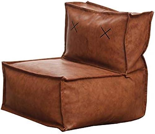 YJchairs Sitzsack - Faules Sofa mit Rückenlehne EPP Kindersitz Einziger Stuhl (Farbe   braun PU Leather)