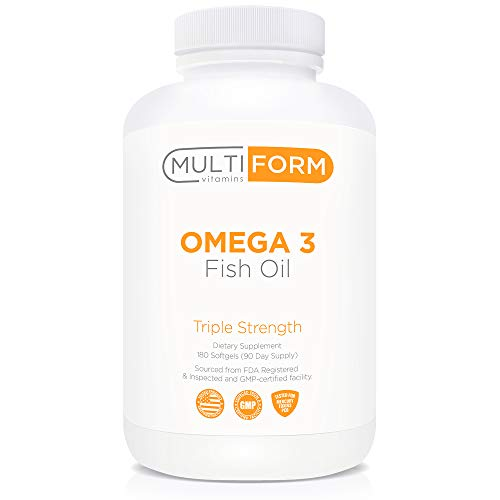 Multiform Vitamins Omega 3 Fish Oil  2000mg  Burpless NonGMO No Fishy Aftertaste 180 Capsules