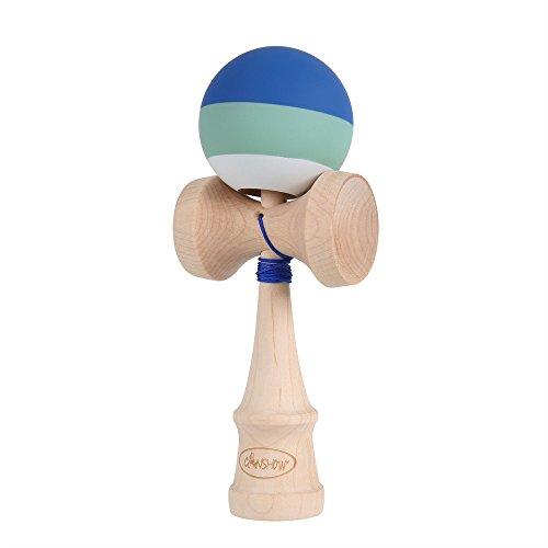 CANSHOW Kendama azul, Rubber Paint Maple Wood Juego de regalo para niño adulto, Modelo Pro con cadena extra
