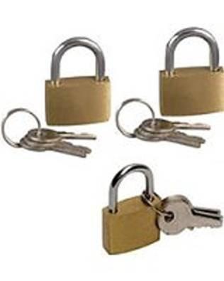 4 x 20mm Brass Padlock - Small Luggage Key Security Lock