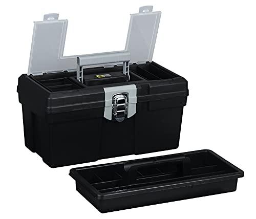 Allit 476280 Caja de herramientas vacía, Negro