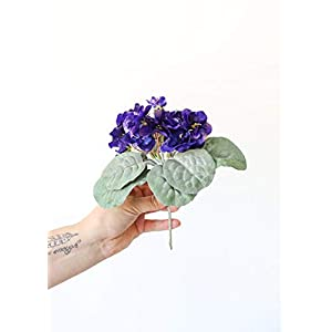 Small Purple African Violet Artificial Plant – 8″