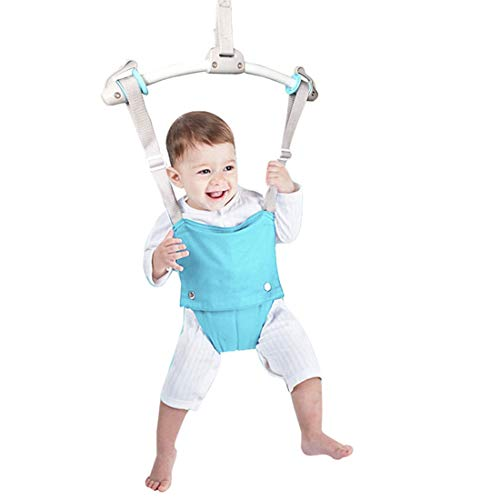 Creative Baby Door Jumper Set - Adjustable Toddler Baby Bouncer Baby Toys Baby Walker Swing (Green)