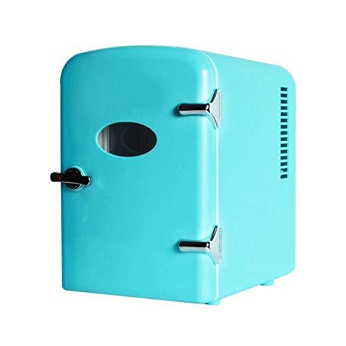 Mini Fridge Small Refrigerator 4L Mini Fridge Cooler and Warmer, Compact, Portable and Quiet, AC+DC Power Compatibility Mini Refrigerator