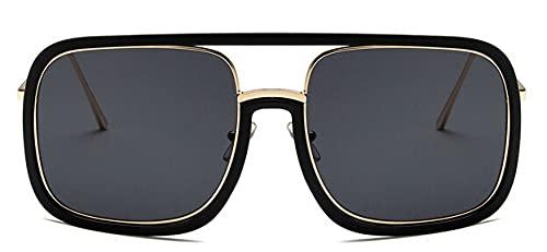 LOPIXUO Gafas de sol Gafas De Sol Cuadradas De Gran Tamaño Mujer Retro Transparente Para Hombre Gafas De Mujer Gafas, Negro
