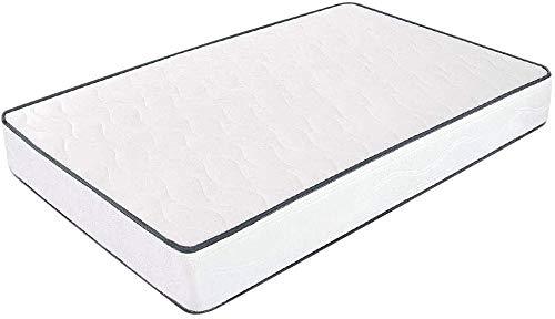 Colchón de 120 x 190 cm para cama plegable - 10 cm de altura - Una plaza y media - Fabricado en waterfoam - Colchón ergonómico - Producto sanitario - Modelo Primavera