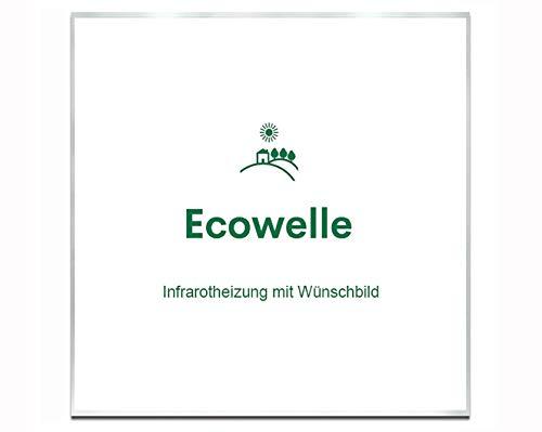 Ecowelle Eigenes Bild & Foto Infrarot Heizung mit Herstellergarantie - Made in Germany - Infrarotheizung mit Wünschbild (350 Watt, Alufarbige Alurahmen)