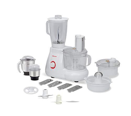 Rico All in One Food Processor with Coconut Scraper, Juicer, Blender Jar, Unbreakable Bowl, 3 Flow Breaker Jars (White, 700 Watt) I Made in India