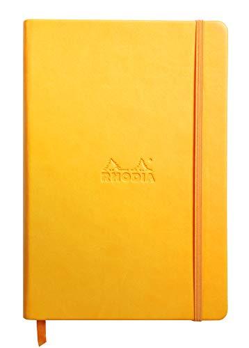 Rhodia 118756C Rhodiarama Book (DIN A5, 14,8 x 21 cm Notizbuch mit Gummizug, liniert, 96 Blatt) 1 Stück osterglocke