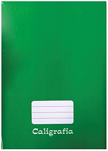 Caderno Caligrafia Capa Dura Liso 48 Folhas Brochurao Verde - Pacote com 05 Tamoio, Verde