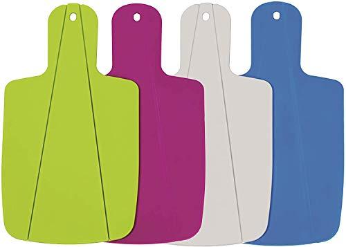 Kitchen Helpis® Tabla de Cortar Plegable, Set de 4 (Colorido), Tabla de Cocina, Tabla de corte para camping, ayuda práctica de cocina, tabla de cortar frutas y verduras para la blandura