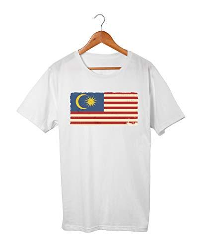 Herren T-Shirt Orient Malaysia Fahne (S)