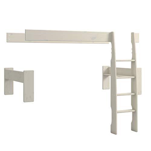 Steens For Kids Umbauset für 2 Einzelbetten zum Etagenbett 164 x 114 x 206 cm (B/H/T), Kiefer massiv, weiss