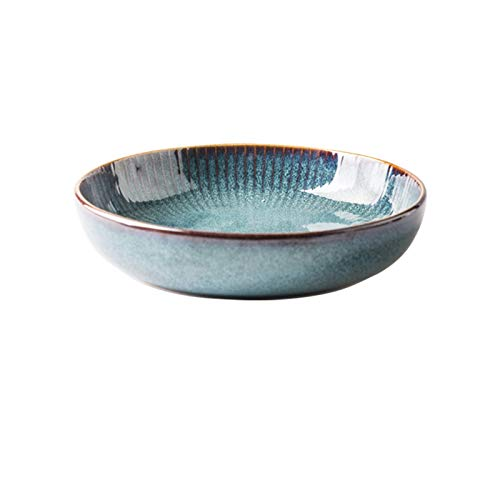 BUYYUB Nordic Style Ceramic Steak Western Plate, can Also be Used as Dishes, Home Creative Plate, Fruit Dessert Tableware (Cor : Bowl 21cm)