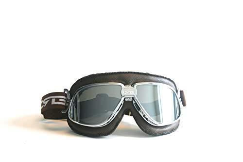 CRG Sports - Gafas para motocicleta estilo piloto de aviador, estilo vintage, para scooter, T11