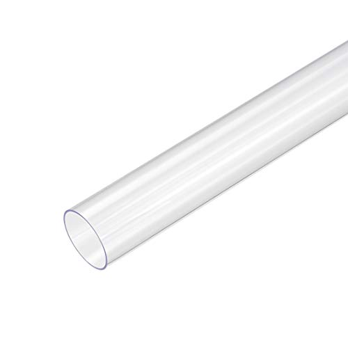 sourcing map Tubería redonda rígida de PVC, clara, 30mm ID x 32mm OD, de 0,5 metros / 1,64 pies de longitud