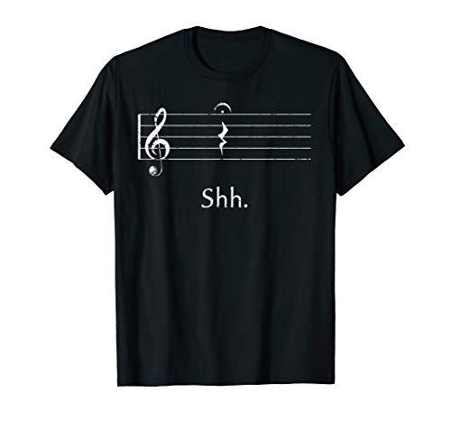 Funny Musik Shirt Shh Quarter Rest und Fermate T-Shirt
