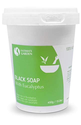 Fatima's Garden - schwarze Seife für Körperpeeling mit Eukalyptus (Beldi-Seife), für 100% Bio-Hammam, 450gr