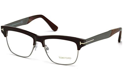 Tom Ford Für Mann 5371 Dark Brown / Gunmetal Metallgestell Brillen, 53mm