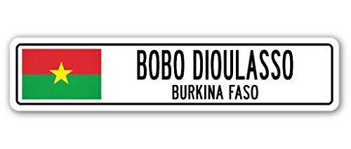TNND New Ouagadougou Burkina Faso Straßenschild Burkinabe-Flagge Stadt Land Straße Straßenschild 10,2 x 40,6 cm