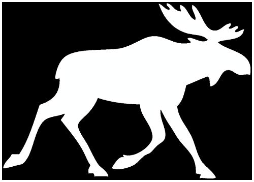 Samunshi® Finnland Elch Tier Aufkleber Autoaufkleber Sticker für Auto Motorrad Wohnmobil Scheiben in 11 Größen und 25 Farben (10x7cm weiß)