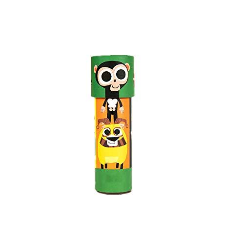 KABINA QQ 04 educatief speelgoed voor kinderen, caleidoscoop, om te knutselen, papieren telescoop, enkele buis, magisch speelgoed voor de basisschool, groen, unisex Youth, M