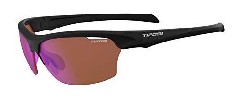 Tifosi Intense Sunglasses Black/AC Red lenses