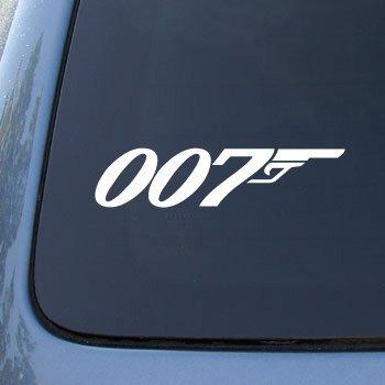 007–James Bond–Vinilo Coche Adhesivo # 1763| vinilo Color: Blanco