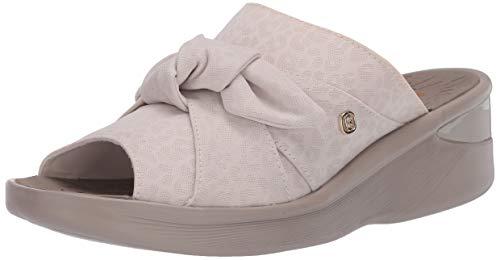 BZees Women's Smile Slingbacks Sandal, Cream, 8.5