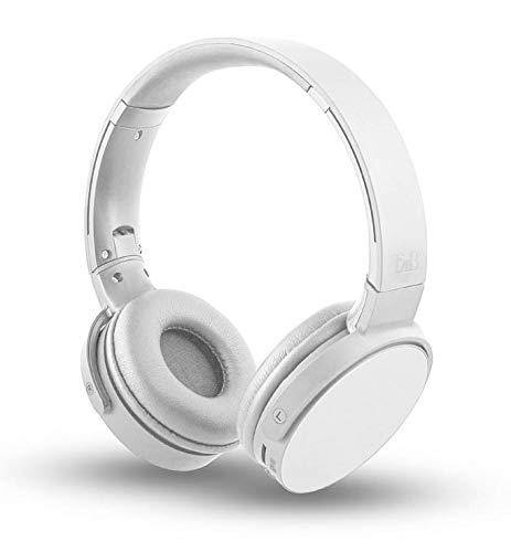Shine 2 - Auriculares 4 en 1: inalámbricos, Lector de Tarjetas SD y Radio FM, Color Blanco
