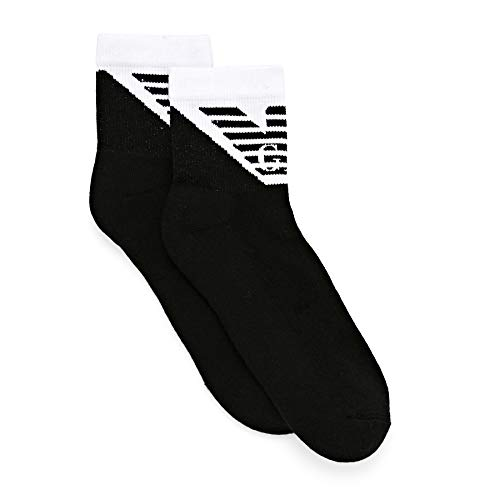 Emporio Armani Underwear Mens Shoe Socks Set 2Pack Sporty, Black, TU