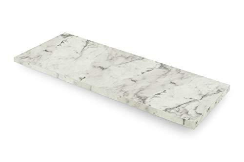 empasa Fensterinnenbank Fensterbank Design-Fensterbank INNEN inkl. Kantenschutz MDF Carrara, Ausladung (Width Range) 150-400 mm, Länge (Length Range) 250-2000 mm