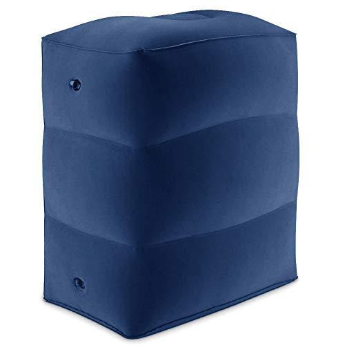 ZHIXX MALL Aufblasbare Fußstütze ,3 Schichten Aufblasbares Fußpolster Flugzeug Fußhocker Aufblasbare Reise Fußstütze Kissen für Flugzeuge, Autos, Haus, Büro und Züge