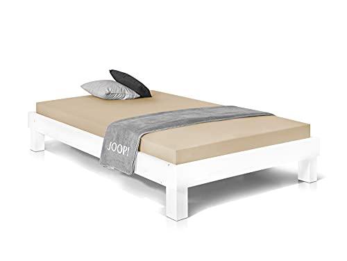 Massivholzbett Pumba Holzbett Doppelbett, Material Massivholz, Made in Germany, 120 x 200 cm, Weiss