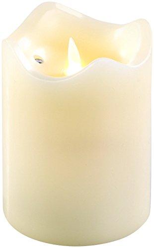 Britesta LED Flackerkerze: LED-Echtwachskerze mit beweglicher Flamme, 12,5 cm hoch (Flackerkerzen mit Batterie)