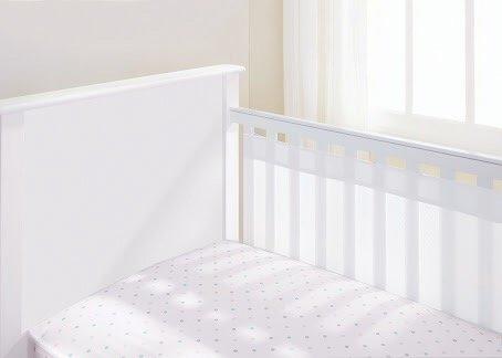 Protetor de Berço Tela Respirável para Grade 2 lados (LISO)