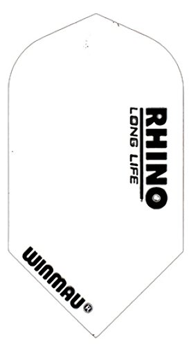 WINMAU Rhino Slim Dart Flights (3 STK Rhino Slim Flights:Weiß