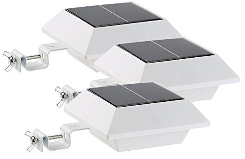 Lunartec Regenrinnenleuchte: Solar-LED-Dachrinnenleuchte, 160 lm, 2 W, PIR-Sensor, weiß, 3er-Set (Solar LED mit Bewegungsmelder)