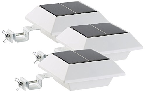 Lunartec Regenrinnenleuchte: Solar-LED-Dachrinnenleuchte, 160 lm, 2 W, PIR-Sensor, weiß, 3er-Set (Dachrinnenlampen)