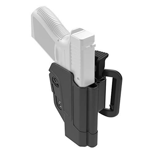 Orpaz H&K USP Holster Fits H&K USP 45, H&K USP 9mm and H&K USP 45 (Full Size Only) Level 2 Thumb Release Belt Holster for Right Hand