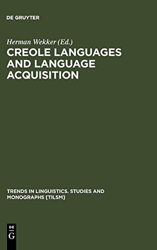 Creole Languages and Language Acquisition