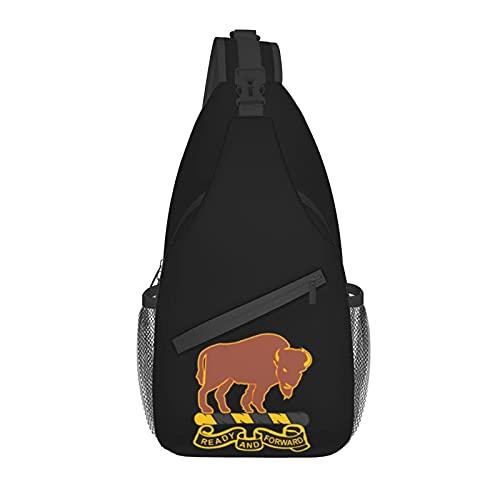 AOOEDM Ejército 10mo regimiento de caballería American Chest Bag Crossbody Sling Mochila Unisex Sling Bag, ajustable, cómodo y ligero