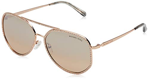 Michael Kors 0MK1039B Gafas de sol, Shiny Rose Gold, 58 para Mujer