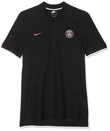 Nike Paris Saint Germain, Polo Uomo, Nero (Black(Hyper Pink) 032), Large