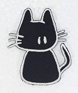 Cute Black Cat DIY Embroidered Sew Iron on Patch p#237
