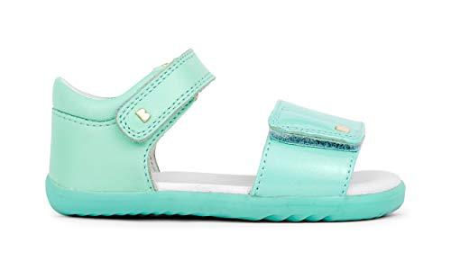 Bobux Step Up Fizz Open Sandal_Primi Passi - Sandali in pelle con suola flessibile e resistente., Menta, 20 EU
