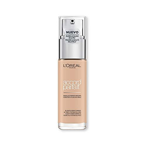 L'Oréal Paris Fondotinta Accord Parfait, Effetto Naturale, con Acido Ialuronico 2.R/2.C Vanille Rosé/Rose Vanilla